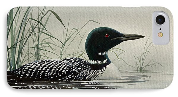 Loon Near The Shore IPhone Case by James Williamson