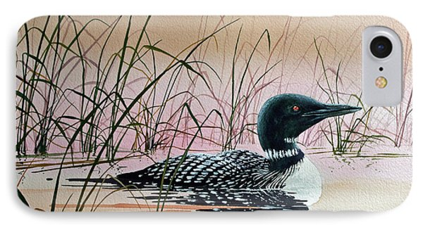 Loon Sunset IPhone Case by James Williamson