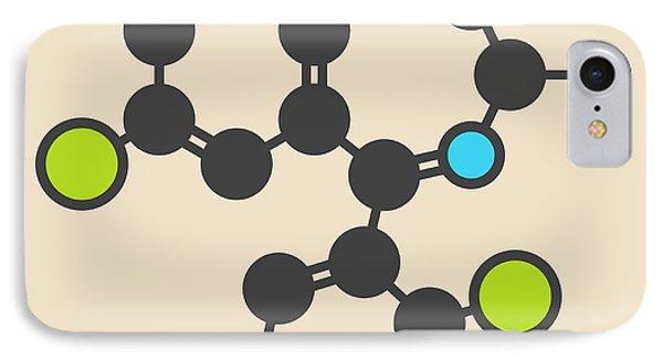 Lorazepam Sedative Drug Molecule IPhone Case by Molekuul