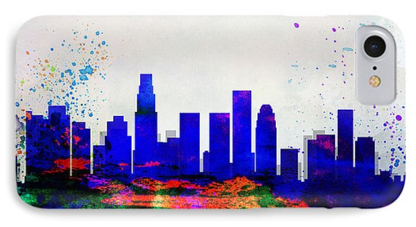 Los Angeles City Skyline IPhone Case by Naxart Studio