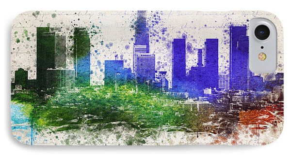 Los Angeles In Color  IPhone Case by Aged Pixel