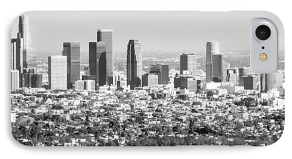 Los Angeles Skyline Panorama Photo IPhone 7 Case by Paul Velgos