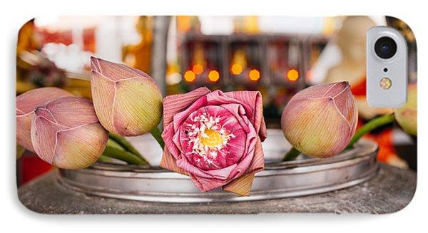 Lotus Flower Offering IPhone Case by Dean Harte