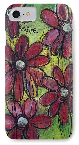 Love For Five Daisies Phone Case by Laurie Maves ART