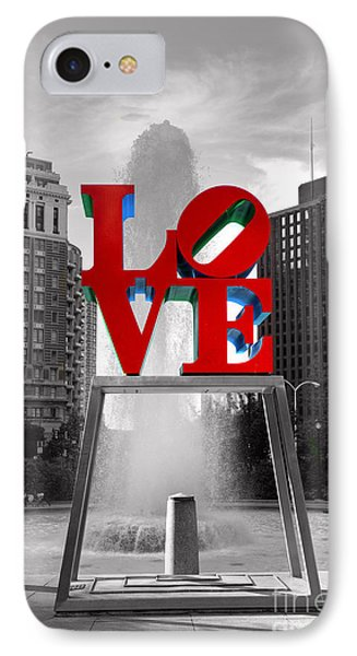 Love Isn't Always Black And White IPhone 7 Case by Paul Ward
