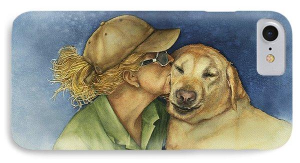 Love Me Love My Dog Phone Case by Nan Wright