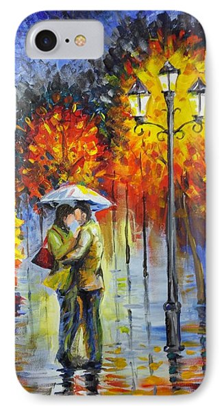 Lovers In The Rain IPhone Case by Harry Speese