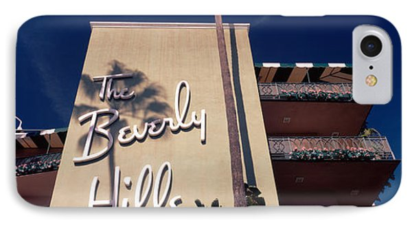 Low Angle View Of A Hotel, Beverly IPhone Case by Panoramic Images