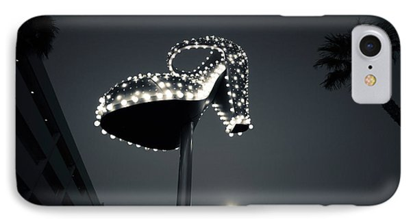 Low Angle View Of Ruby Slipper Neon IPhone Case by Panoramic Images
