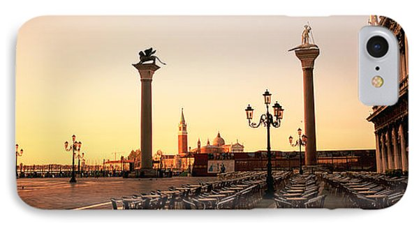 Low Angle View Of Sculptures In Front IPhone Case by Panoramic Images