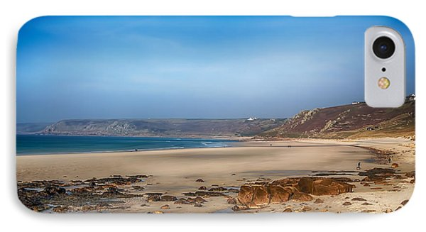 Low Tide At Sennen Cove Phone Case by Chris Thaxter