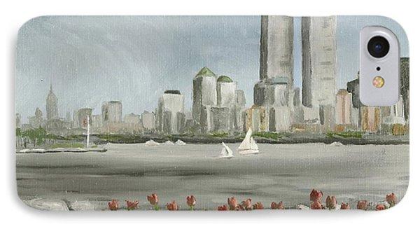 Lower Manhattan 1992 IPhone Case by Susan Richardson