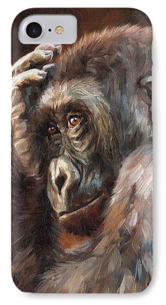 Lowland Gorilla IPhone Case by David Stribbling