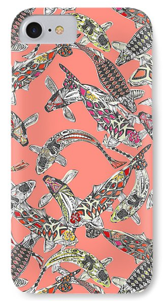 Lucky Koi Coral IPhone Case by Sharon Turner