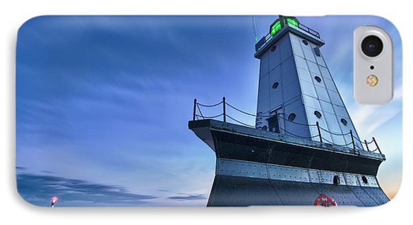Ludington North Breakwater Lighthouse IPhone Case by Sebastian Musial