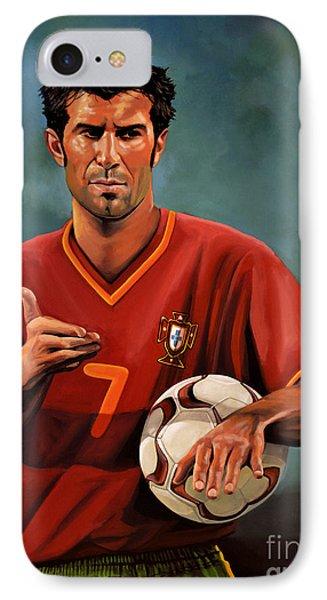 Luis Figo IPhone 7 Case by Paul Meijering