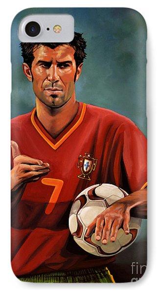 Luis Figo IPhone Case by Paul Meijering