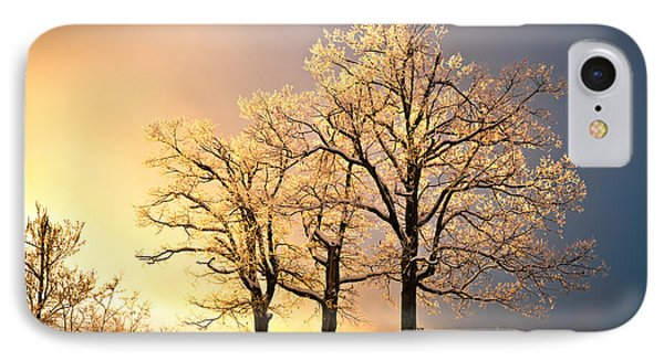 Luminous - Blue Ridge Winter Sunset IPhone Case by Dave Allen