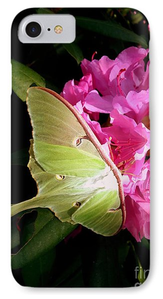 Luna Moth Phone Case by Janine Riley