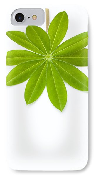Lupin Leaf Phone Case by Anne Gilbert