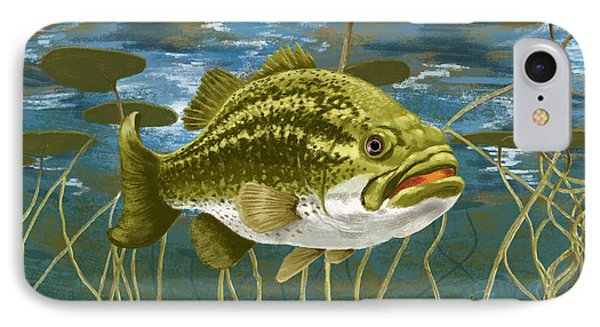 Lurking Lunker IPhone Case by Kevin Putman