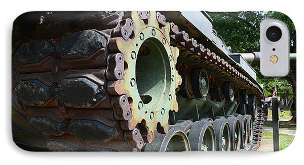 M60 Patton Artillery Tank Tread Phone Case by Luther   Fine Art