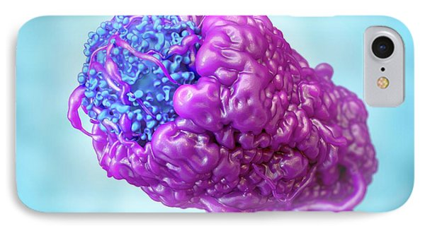 Macrophage Engulfing Cancer Cell IPhone Case by Maurizio De Angelis