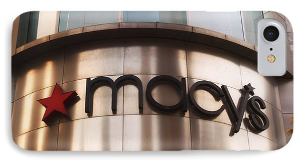 Macys Signage Phone Case by Thomas Woolworth
