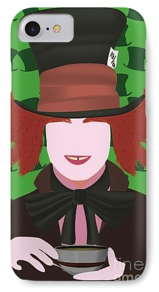 Mad Hatter IPhone Case by Martin Salatta