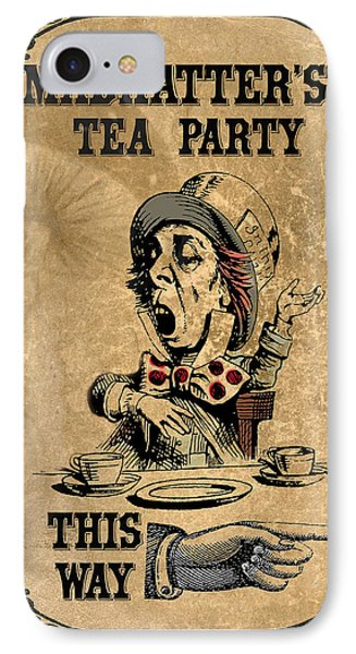 Mad Hatters Tea Party IPhone Case by Greg Sharpe