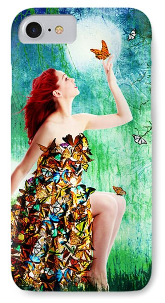 Madam Butterfly IPhone Case by Linda Lees