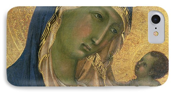 Madonna And Child  IPhone Case by Duccio di Buoninsegna
