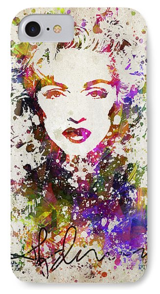 Madonna In Color IPhone Case by Aged Pixel