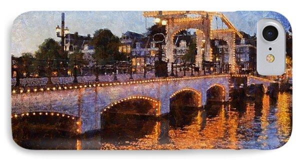 Magere Brug Bridge In Amsterdam Phone Case by George Atsametakis