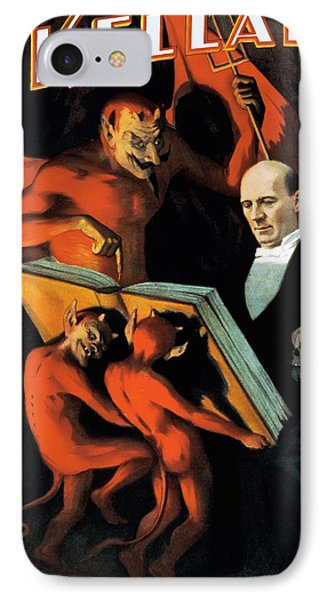 Magician Harry Kellar And Demons  Phone Case by Jennifer Rondinelli Reilly - Fine Art Photography