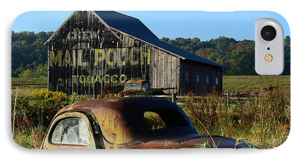 Mail Pouch Barn And Old Cars IPhone Case by Paul Ward