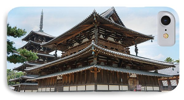 Main Hall Of Horyu-ji - World's Oldest Wooden Building IPhone Case by David Hill