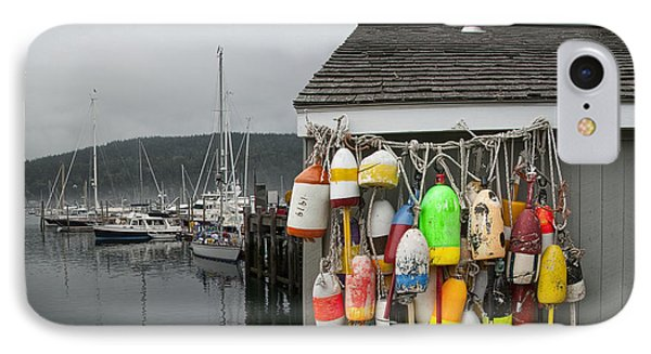 Maine Fishing Bouys And Harbor No. 028 IPhone Case by Randall Nyhof