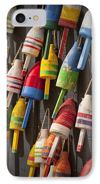 Maine Fishing Bouys IPhone Case by Randall Nyhof