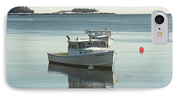 Maine Lobster Boats In Winter IPhone Case by Keith Webber Jr
