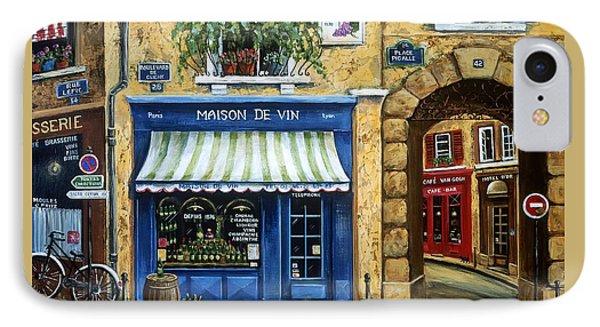 Maison De Vin IPhone Case by Marilyn Dunlap