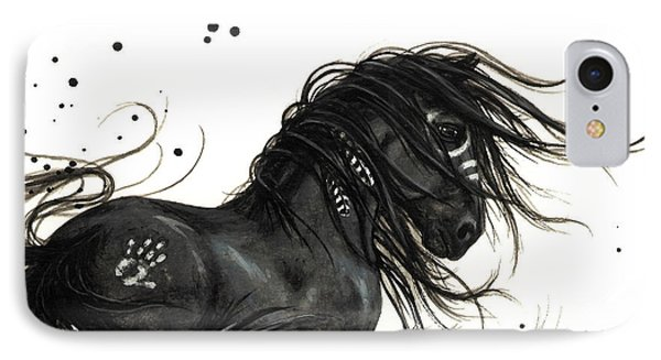 Majestic Friesian Horse IPhone Case by AmyLyn Bihrle