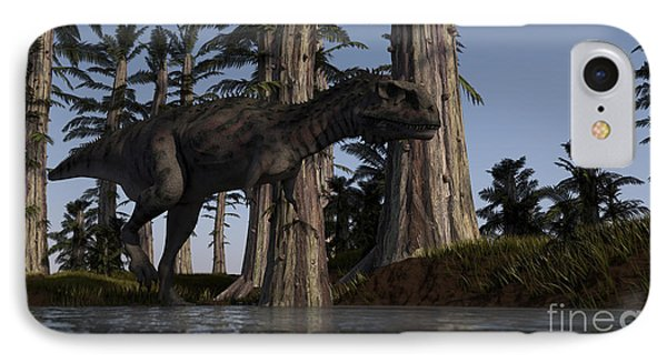 Majungasaurus Hunting For Food Phone Case by Kostyantyn Ivanyshen