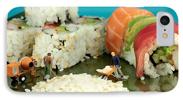 Making Sushi Little People On Food Phone Case by Paul Ge