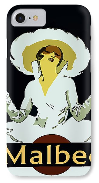 Malbec Vintage Wine Lady Phone Case by Fig Street Studio