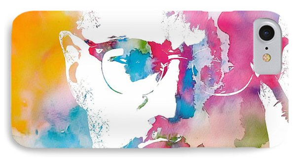 Malcolm X Watercolor IPhone 7 Case by Dan Sproul