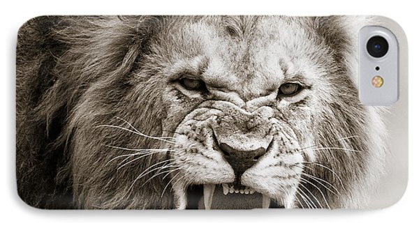 Male Lion I Masai Mara Kenya IPhone Case by Regina Mueller