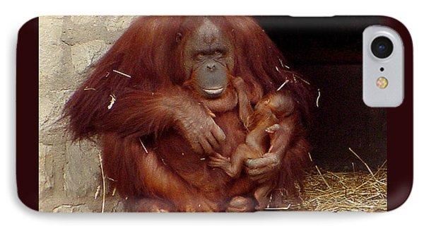 Mama N Baby Orangutan - 54 Phone Case by Gary Gingrich Galleries