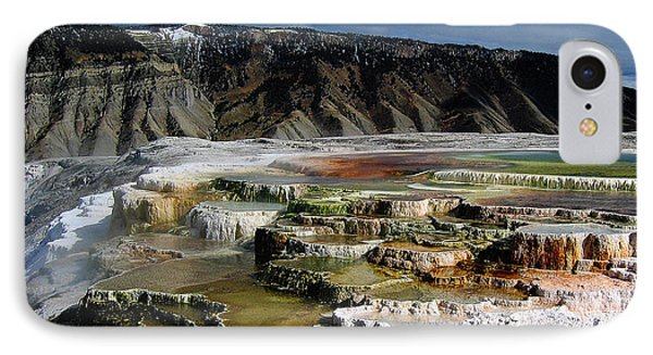 Mammoth Hot Springs Phone Case by Robert Woodward
