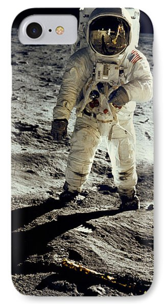 Man On The Moon IPhone 7 Case by Neil Armstrong/Underwood Archive